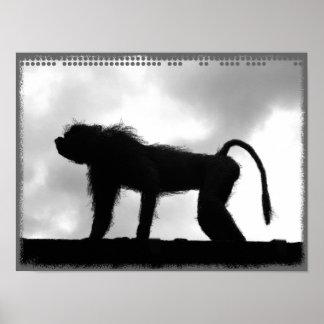 Mono en el poster de la torre de Londres