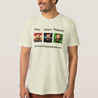 Mono en la camiseta media de Apps Camisas