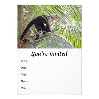 Mono en la foto de bambú de la selva