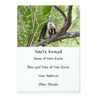 """Mono en la selva invitación 5"""" x 7"""""""