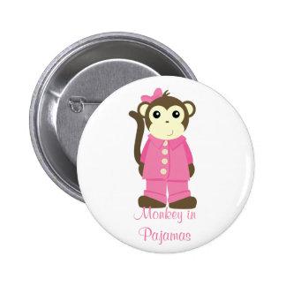 Mono en pijamas pin