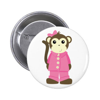 Mono en pijamas pins