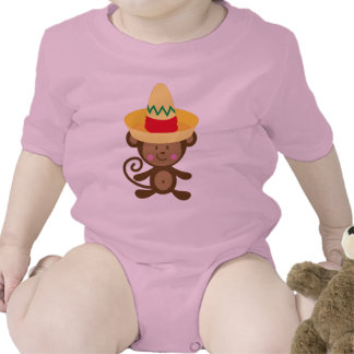 Mono en regalo del sombrero traje de bebé