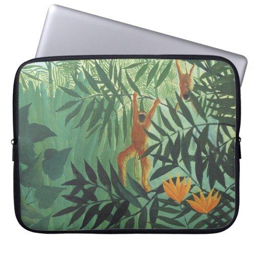 """Mono en selva de Henri Rousseau 15"""" ordenador port Funda Ordendadores"""