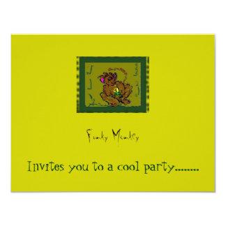Mono enrrollado invitación 10,8 x 13,9 cm