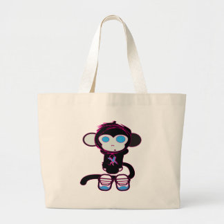 Mono enrrollado por HusbandsRock Bolsa Tela Grande