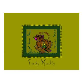 Mono enrrollado postal