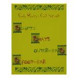 Mono enrrollado tarjeta publicitaria