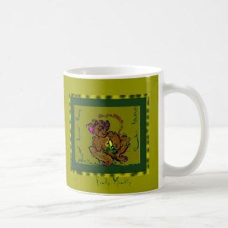 Mono enrrollado taza de café