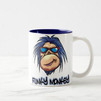 Mono enrrollado taza de dos tonos