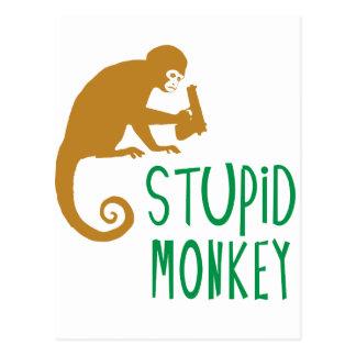 Mono estúpido postales