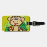 mono etiqueta para maleta