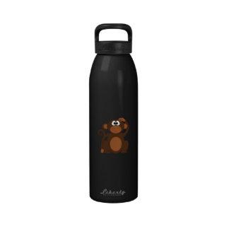 Mono exhausto del dibujo animado de Brown que Botella De Agua Reutilizable