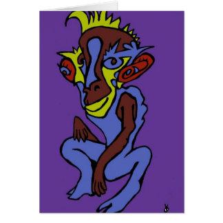 Mono extranjero tarjeta de felicitación