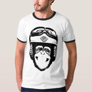 Mono feliz de Moto (negro) Remeras