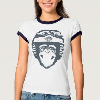 Mono feliz de Moto (pizarra) Remera