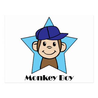 Mono feliz del clip art lindo del dibujo animado postales