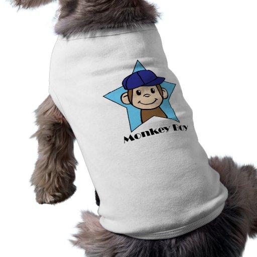 Mono feliz del clip art lindo del dibujo animado ropa macota