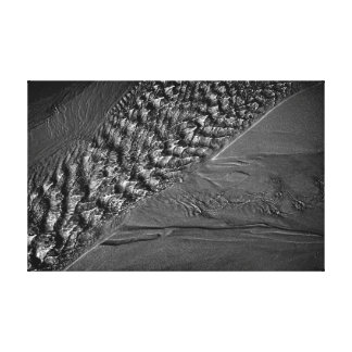 Mono fotografía de las ondulaciones del agua impresión en lienzo