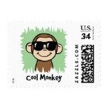 Mono fresco del clip art del dibujo animado con sellos