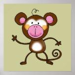 Mono fresco impresiones
