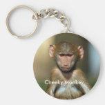 Mono fresco - llavero lindo del babuino del bebé