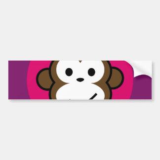 Mono fresco pegatina de parachoque
