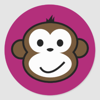 Mono fresco pegatina redonda