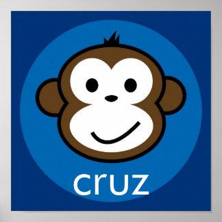 Mono fresco personalizado [azul+marina de guerra] impresiones