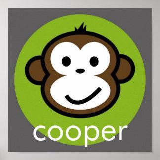 Mono fresco personalizado [cal+gris] posters