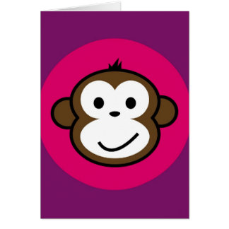 Mono fresco tarjeta de felicitación