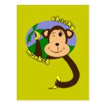 Mono fresco tarjetas postales