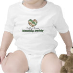 Mono futuro del bebé del compinche de la caza del  camisetas
