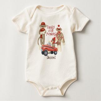 Mono futuro del código, enredadera personalizada body para bebé