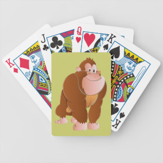 Mono gorila ape barajas de cartas