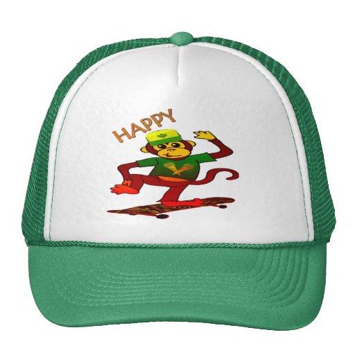 mono Gorra-feliz