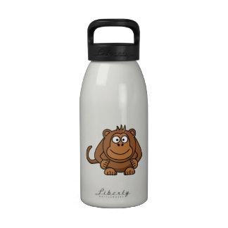 Mono grande del dibujo animado botellas de agua reutilizables