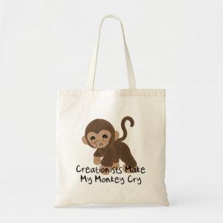 Mono gritador bolsa tela barata