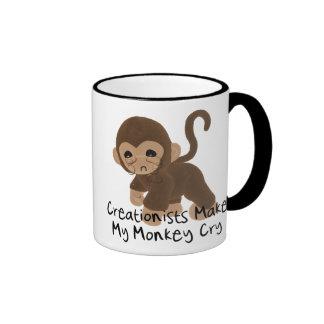 Mono gritador taza de dos colores