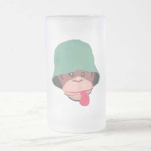 Mono grosero taza cristal mate