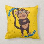Mono gruñón almohadas