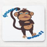 Mono gruñón tapete de ratón