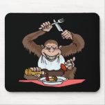 Mono hambriento alfombrillas de ratones