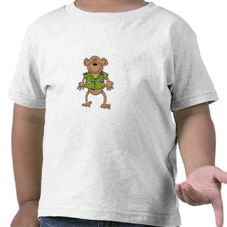 Mono hawaiano tropical camisetas