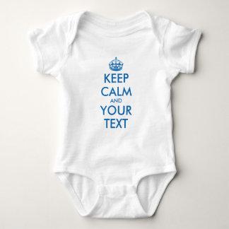 Mono infantil de la enredadera del bebé azul de polera