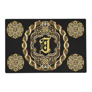 Mono J 2 different designs Front Back Read About D Placemat
