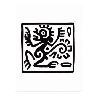Mono, jeroglífico mexicano (maya) postales