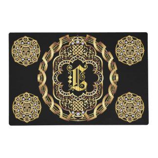 Mono L 2 different designs Front Back Read About D Placemat