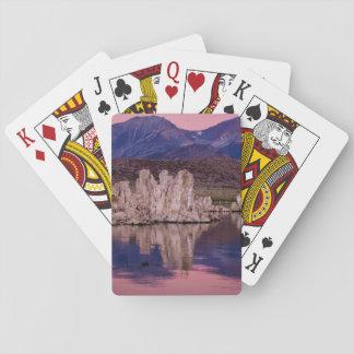Mono lago espectacular en la sombra barajas de cartas