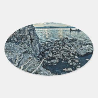 Mono Lake Blues Oval Sticker